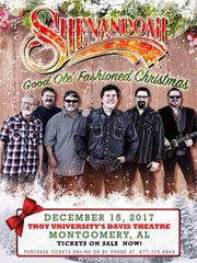 Shenandoah will present a Christmas Concert at Troy