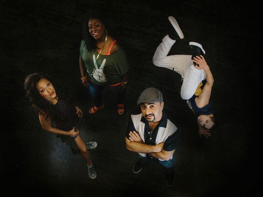 "Phoenix Theatre's ""In the Heights"" stars (from left)"
