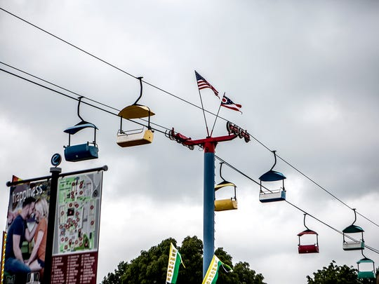 Midway Silent Dark At Ohio State Fair A Day After Fire Ball Accident