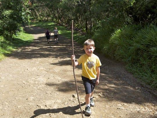 Iden Elliott takes a hike in Maui in 2011. We spent
