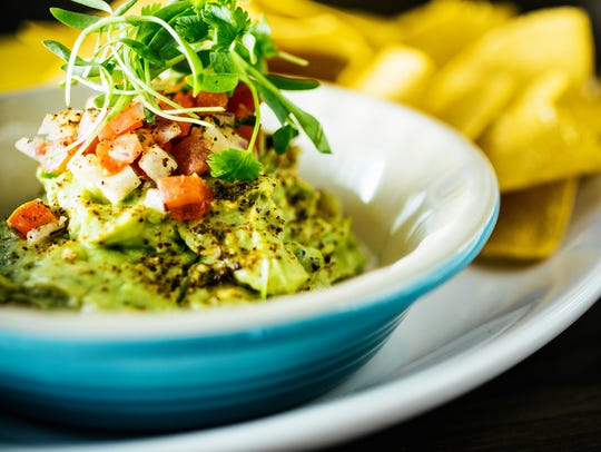 Guacamole is a perfect green food for St. Patrick's Day.