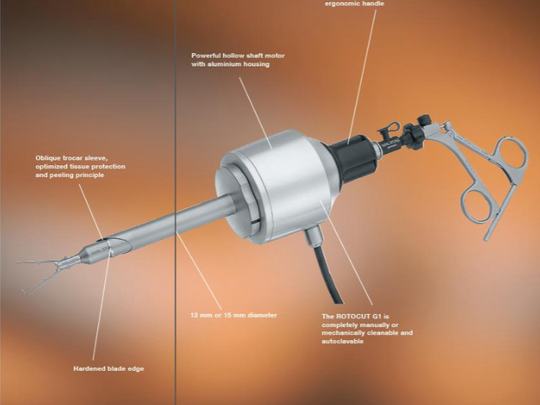 This image, from the federal lawsuit filed by Sumaira Khan's estate, shows a power morcellator similar to the type used in her surgery.