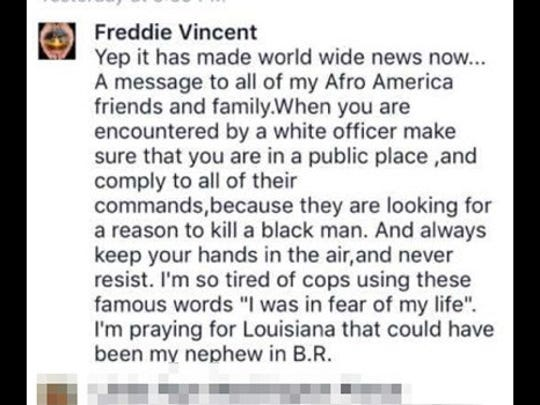 Comments apparently made by Cincinnati Police Officer