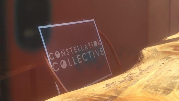 Constellation Collective's window features this handmade
