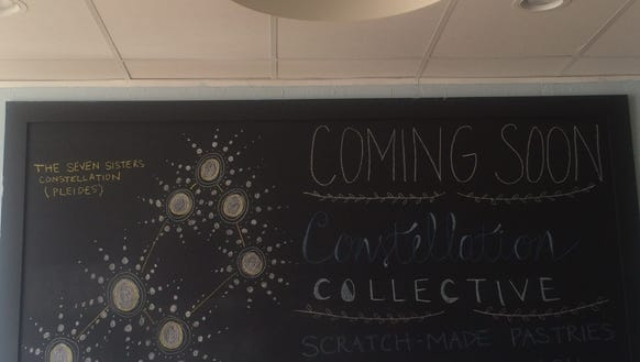 A chalkboard shows the anticipation of the owners to