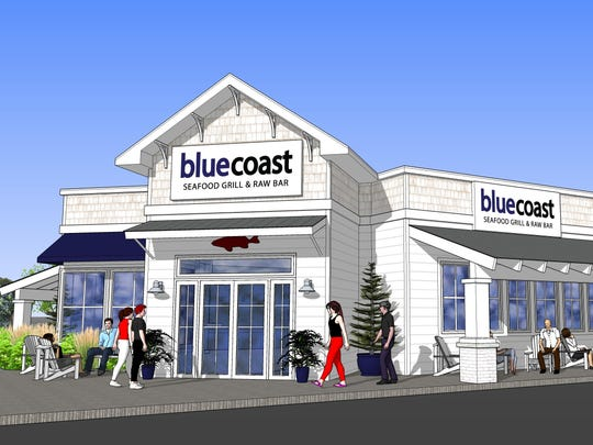 An artist rendering of new Bluecoast restaurant opening in spring 2017 in Rehoboth Beach.