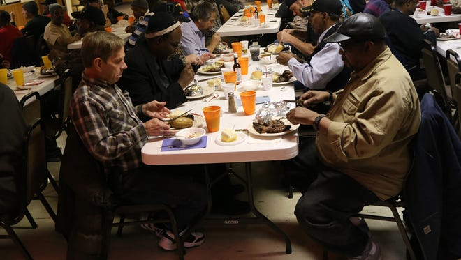 For more than 20 years, the Plymouth Elks have served steak lunches to honor area veterans.