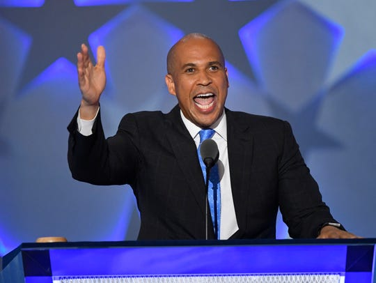 Sen. Cory Booker, D-N.J., speaks during the 2016 Democratic