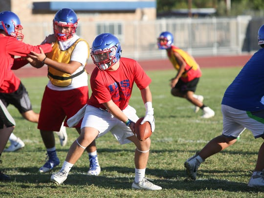 Indio High School's football practice, August 17, 2017.