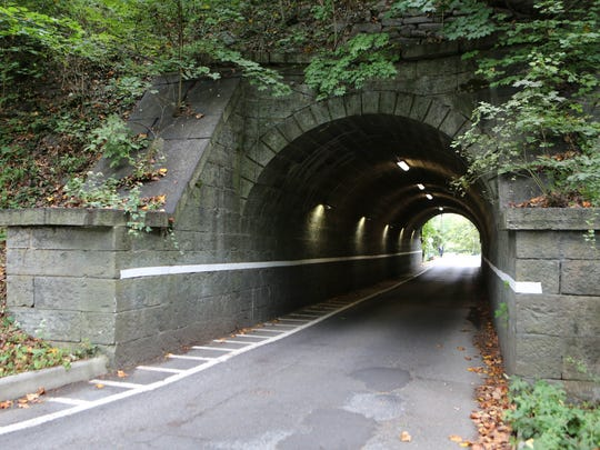 """The Station Road tunnel, in Irvington's Spiro Park neighborhood is featured in """"The Girl on the Train."""""""