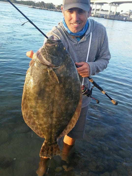 Treasure coast fishing report catch a flounder by jig or gig for Sebastian fishing report