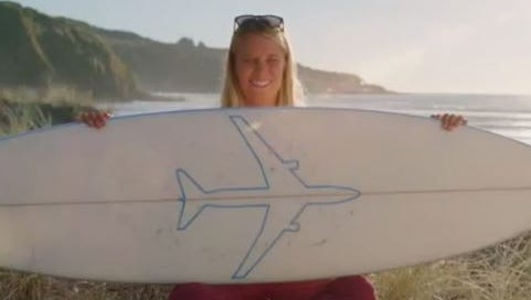 Air New Zealand's latest safety video features popular, professional and championship surfers.