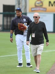 Tigers infielder Miguel Cabrera and former manager