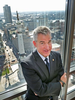Josh Minkler, U.S. attorney for the Southern District of Indiana, works out of an office in Downtown Indianapolis.