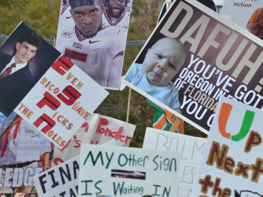 Florida State students and fans invaded Langford Green last November when ESPN's College GameDay came to town when the Seminoles faces in-state rival Miami.