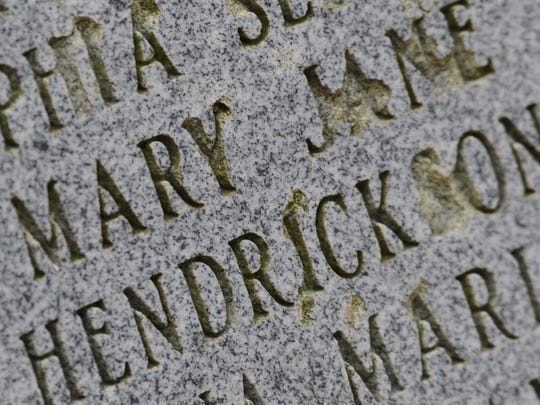 The Mount Olive Cemetery is famous because it is said to be haunted by the ghost of Mary Jane Hendrickson.
