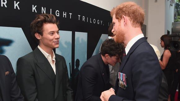 Harry Styles met Prince Harry.