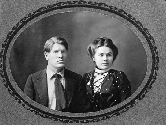 """Charles and nancy Russell's """"Wedding Portrait"""" is on"""