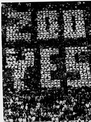This photo, published on Oct 18, 1958, shows fans in