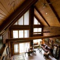 $745K log cabin in Metamora creates lavish comforts of home naturally