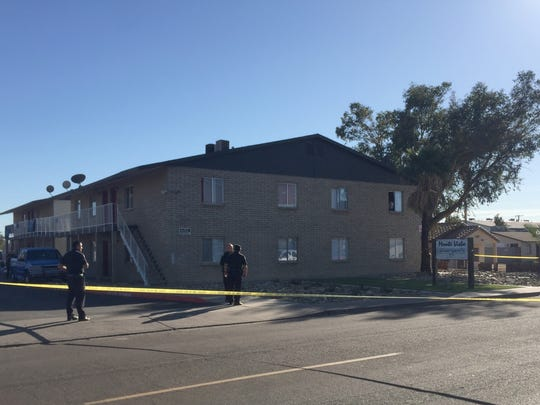 A Phoenix police chase on March 6, 2018, ended at this apartment complex in the 1700 block of West Mountain View.