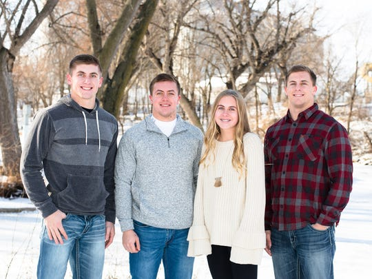 The Snyder siblings of northwest Iowa: Jaden (from left), Colin, Payton and Brandon.