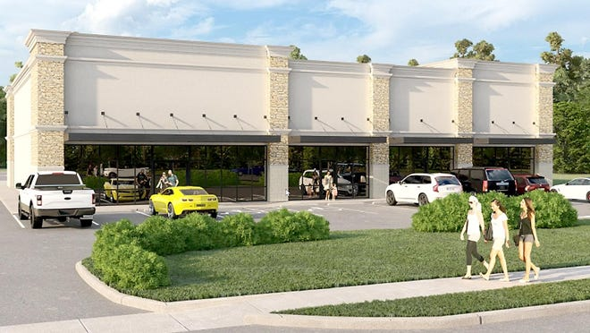 Rendering of the proposed multi-tenant space at 1139 S. Centerville Road in Sturgis.