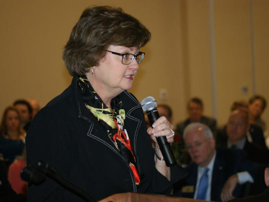 Carol Johnson, special guest speaker at the annual Sandusky County Economic Development breakfast, charged the county to re-invest into the workforce, and to seek partnerships with business prospects that make sense for the county's needs.