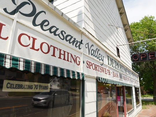 The exterior of the Pleasant Valley Department Store.