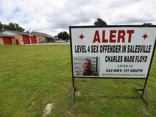 A sign on Salesville city property warns residents