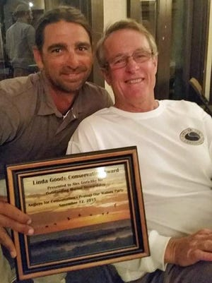 Alex Gorichky, left, with Angler's for Conservation founder and president, Rodney Smith.