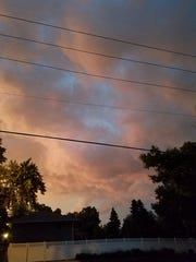 Clouds rumble near 26th and Glendale in Sioux Falls