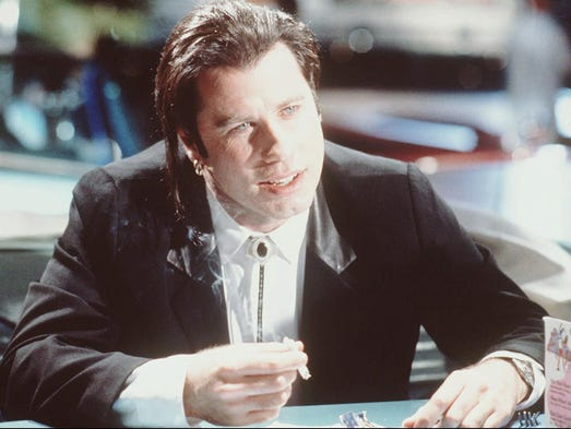 "Englewood native John Travolta's ""Pulp Fiction"" performance"