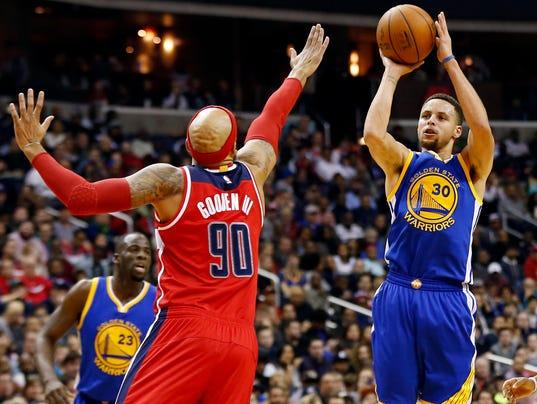 USP NBA: GOLDEN STATE WARRIORS AT WASHINGTON WIZAR S BKN USA DC