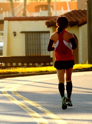 Running alone puts a person at a higher risk of getting hit by a car.