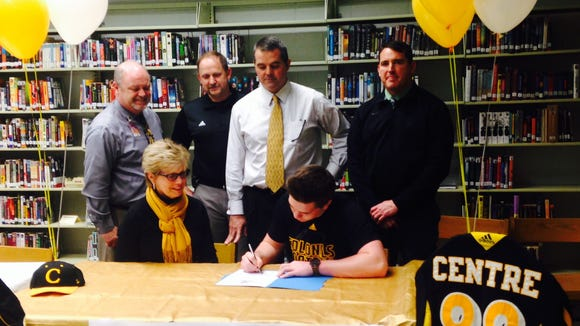 North Buncombe senior Mason Isgrig has signed to play college football for Centre (Ky.).
