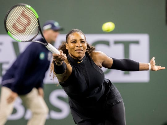 Serena Williams, of the United States of America plays