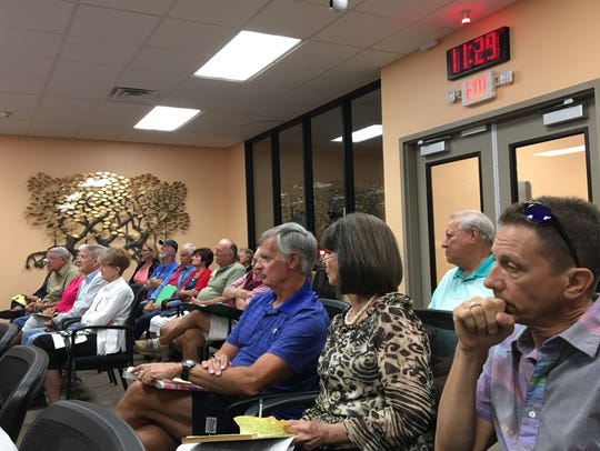 Residents pack Fort Myers Beach Town Council chambers