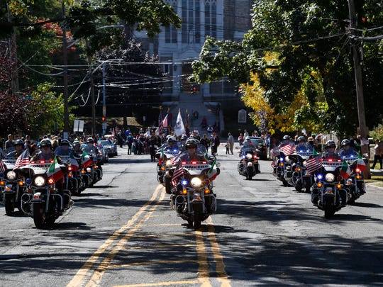 Members of the Yonkers Police Department Motorcycle division.