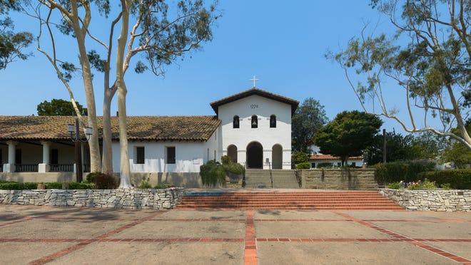 Mission San Luis Obispo de Tolosa at 751 Palm Street in San Luis Obispo, California.