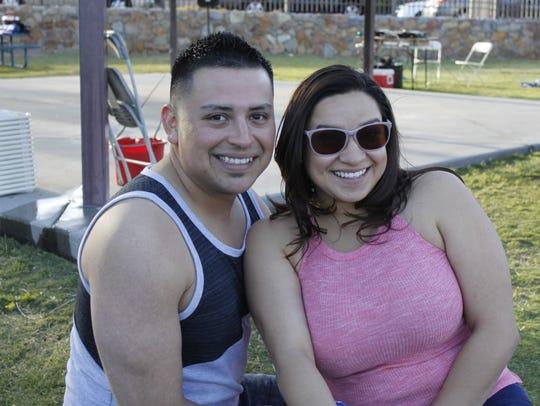 Eddie Hernandez, left, and Janine Espeleta