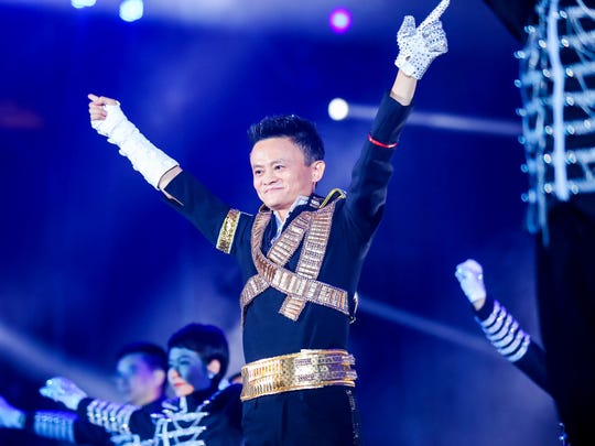 Jack Ma during Alibaba's 17th anniversary celebration