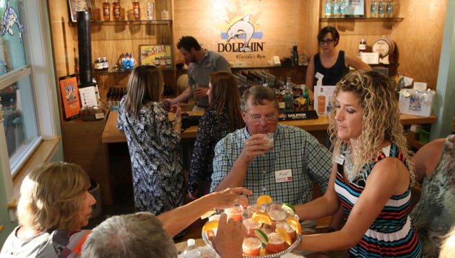 Rum tasting and tour at Wicked Dolphin Distillery on Cape Coral.