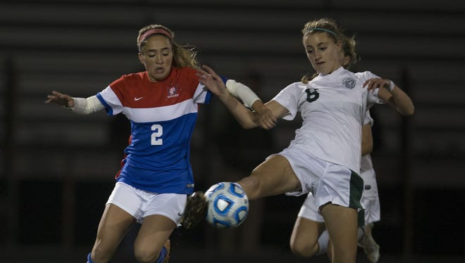 Wall vs Colts Neck in the 2016 SCT girls soccer semifinals