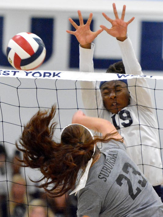 York Suburban vs West York girls' volleyball