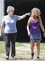 "McCoy's grandmother, Pat (left), and mother, Traci, said young Tyler's home life was volatile. Traci battled with alcoholism, and her boyfriend, McCoy said, ""was a very scary man."" Worried her grandson would continue the cycle of abuse, Pat adopted McCoy in November 2001."
