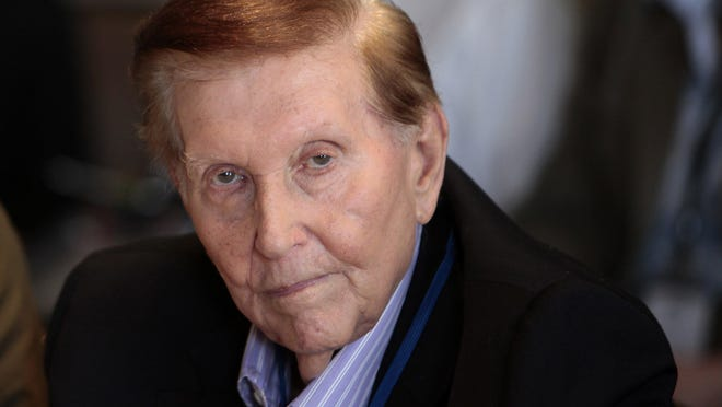 Sumner Redstone, seen here in 2012, grew his father's drive-in movie business into a media empire that includes ViacomCBS and Paramount Pictures. But Redstone also gained attention for his personal life and family feuds.