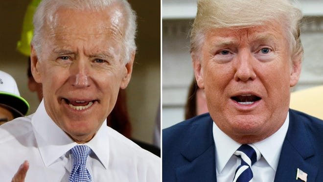 Former Vice President Joe Biden's lead over President Donald Trump in a new poll in Pennsylvania is within the poll's margin of error.