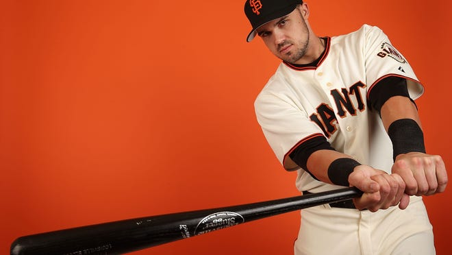 SCOTTSDALE, AZ - FEBRUARY 23:  Adam Duvall #81 of the San Francisco Giants poses for a portrait during the spring training photo day at Scottsdale Stadium on Febuary 23, 2014 in Scottsdale, Arizona.  (Photo by Christian Petersen/Getty Images) *** Local Caption *** Adam Duvall