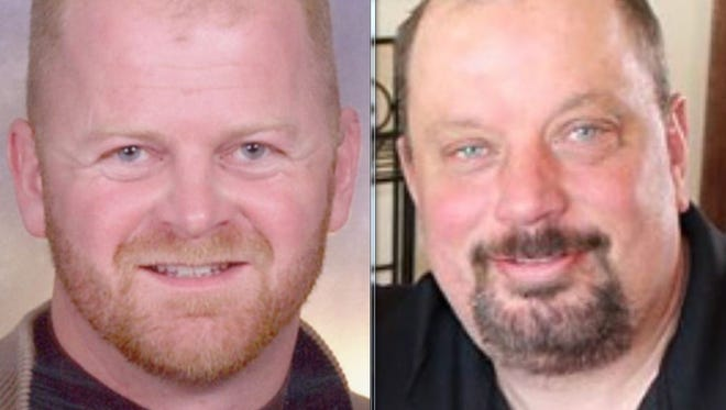 Volunteer firefighter Steve Ackerman (left) and homeowner David Smith died in a fire in Brandon in April.